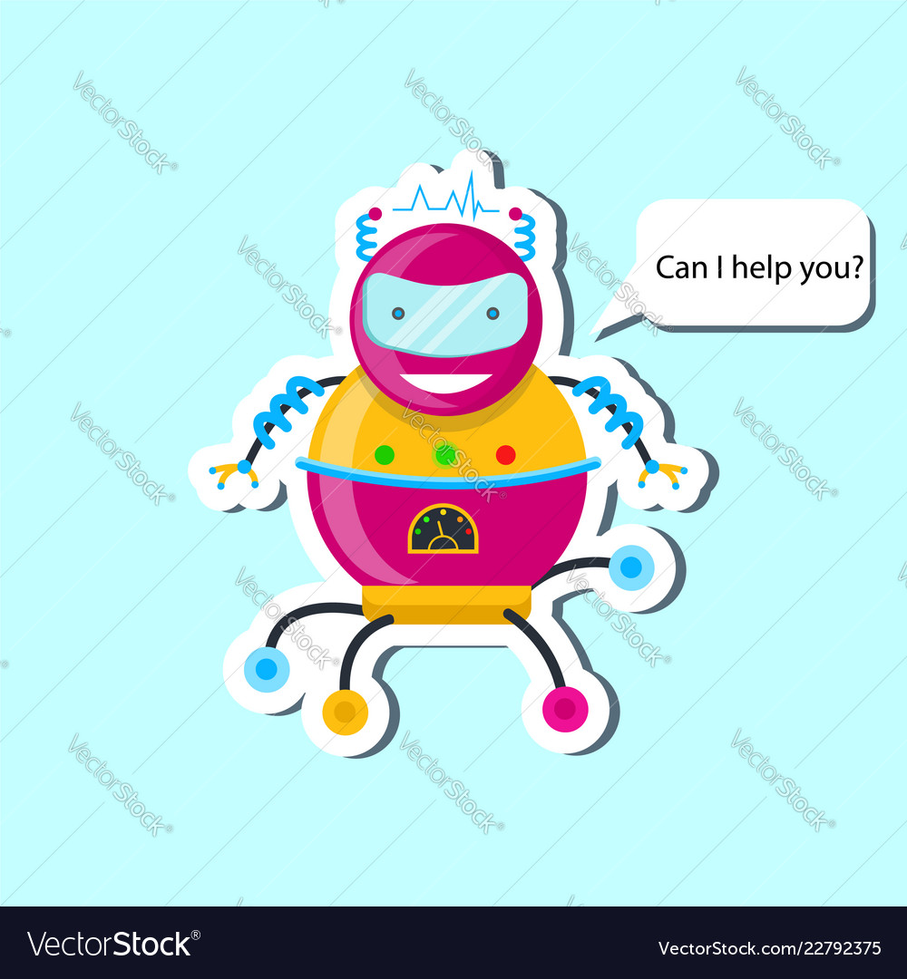 Robot in flat style