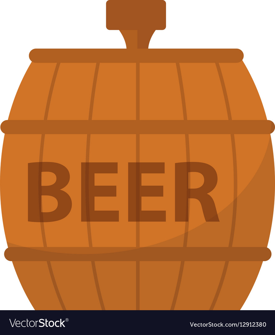 Beer Barrel icon flat style Isolated on white
