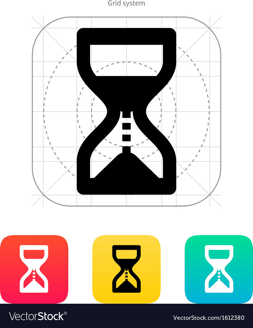 Hourglass is ticking icon