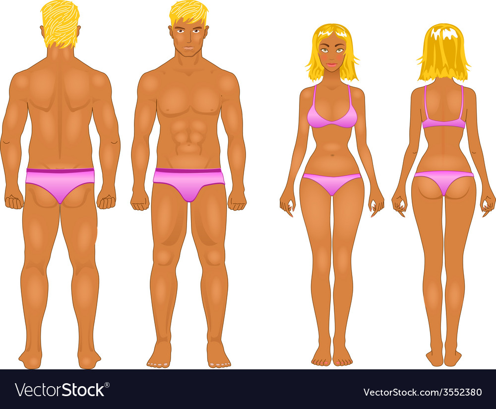 Male female boy set collection vector image