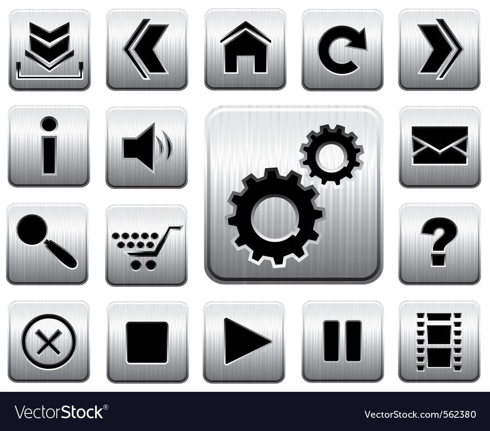 Metal icon set