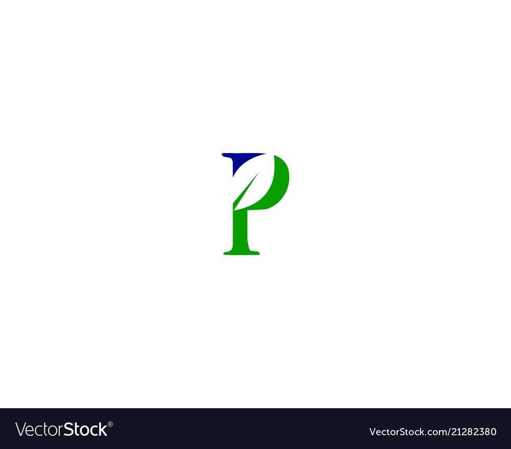 P letter leaf logo