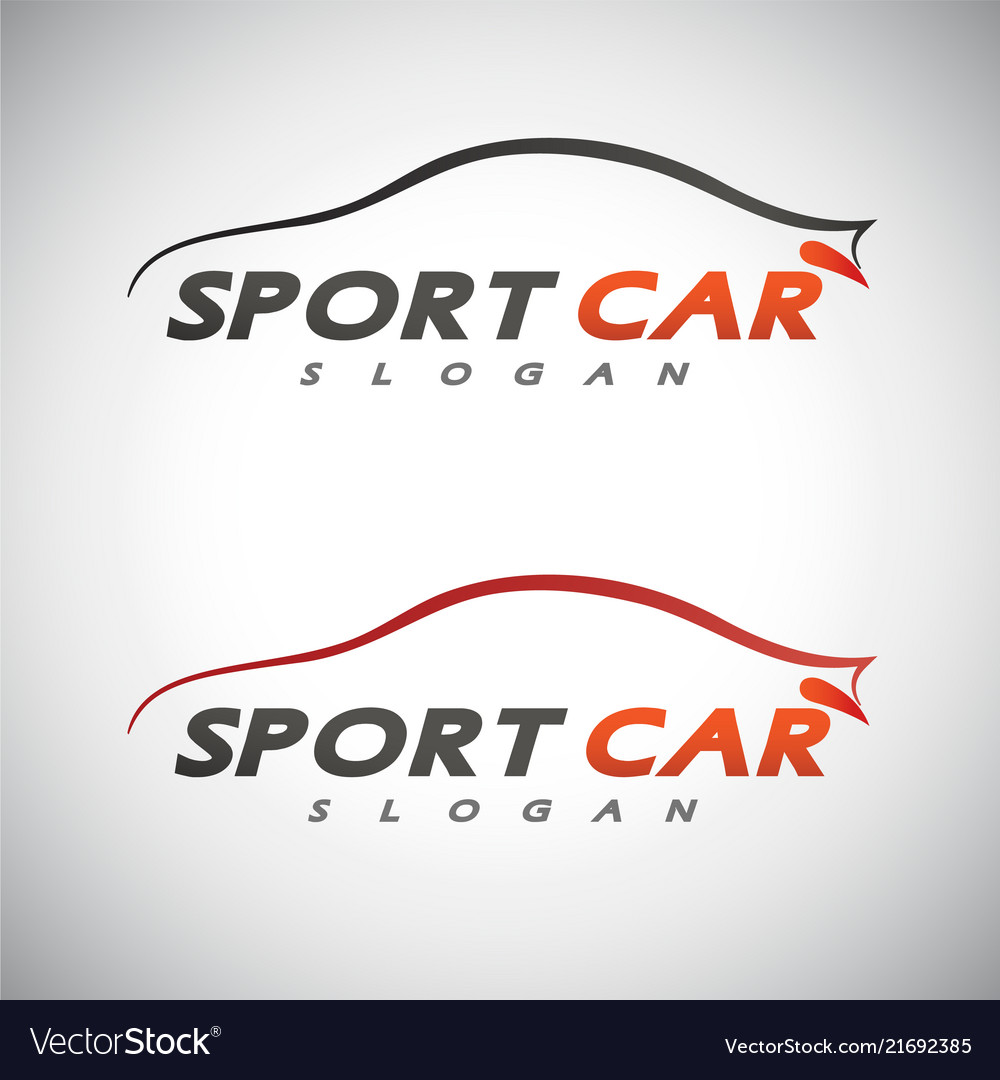 Abstract car sport racing logo template