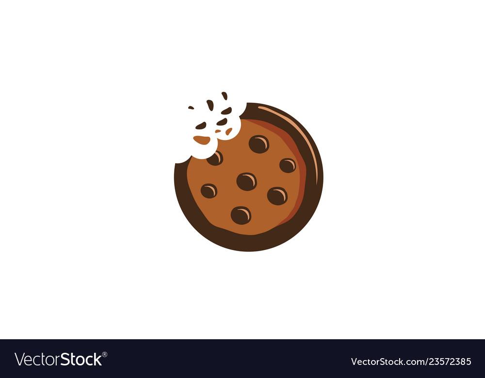 creative delicious cookie logo royalty free vector image vectorstock