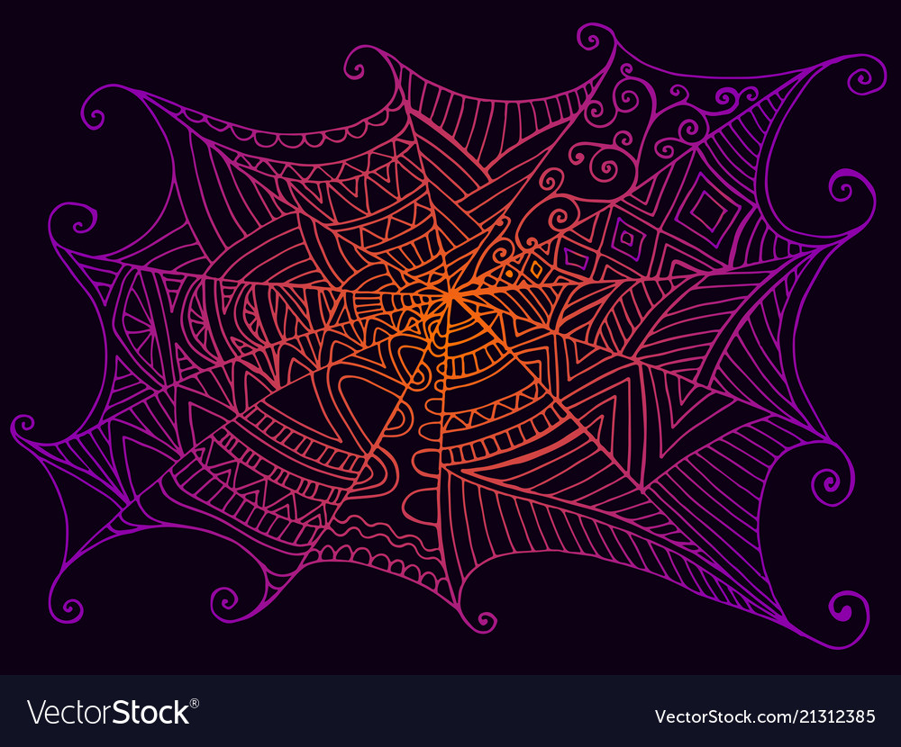 Decorative beautiful spider web vintage style
