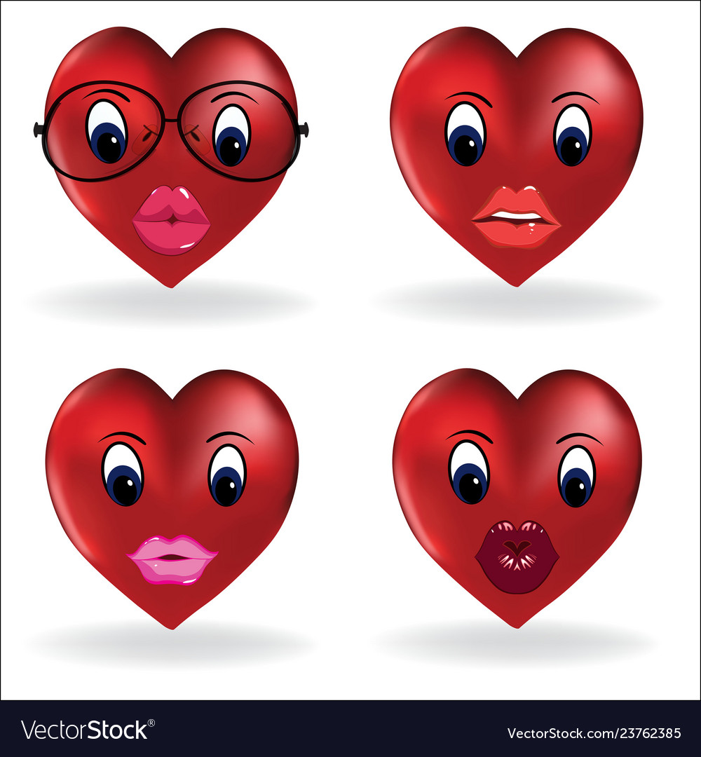 Emoji heart smiley lip sexy creator design