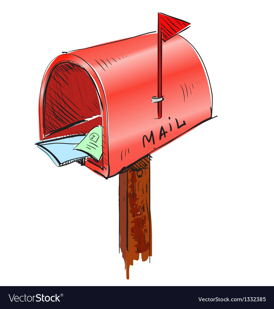mailbox cartoon icon royalty free vector image rh vectorstock com mailbox cartoon images cartoon mailbox clipart