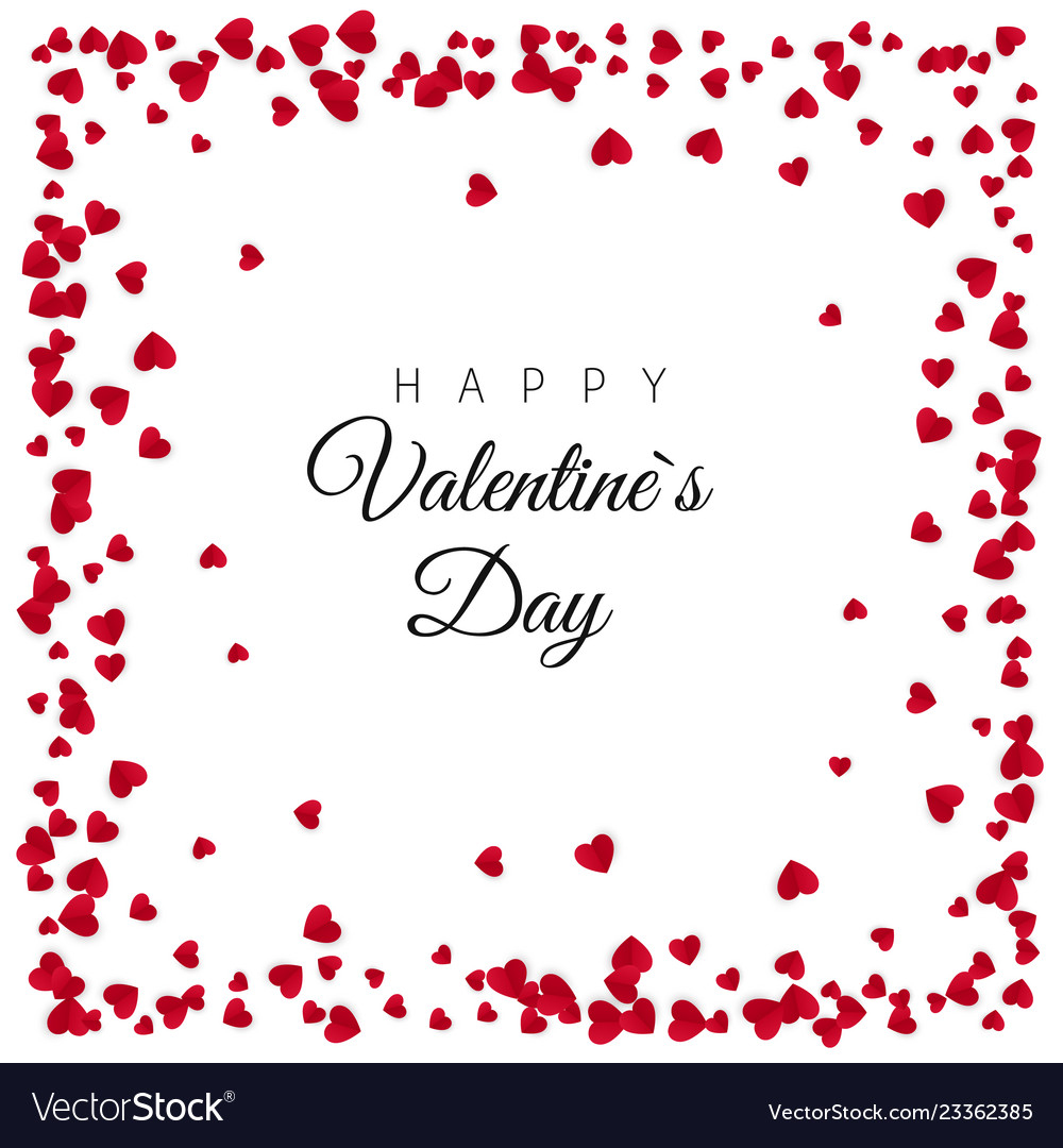 Red paper hearts frame background design