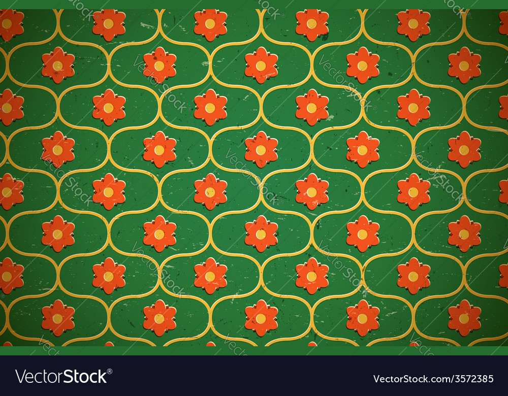 Seamless floral pattern on the cardboard