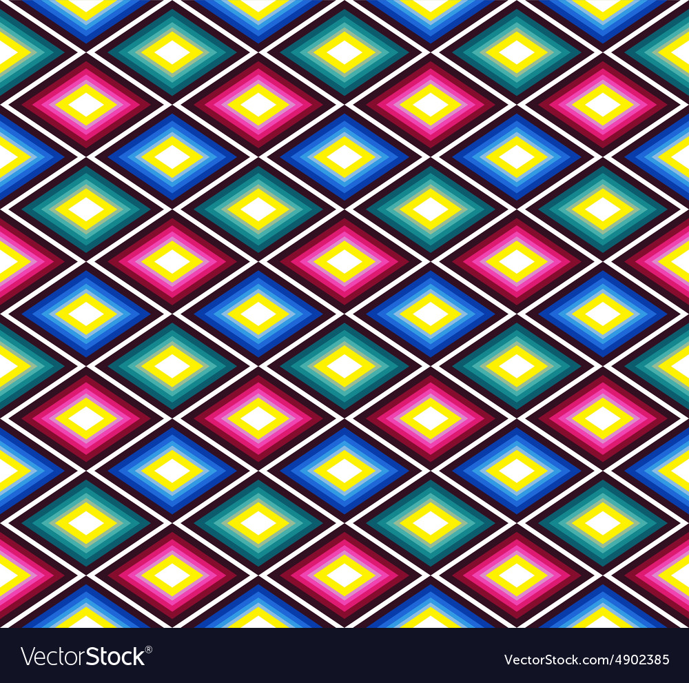 Seamless mexican pattern with rhombuses vector image