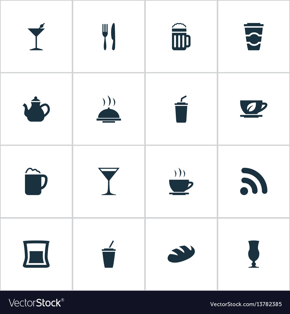 Set of simple food icons