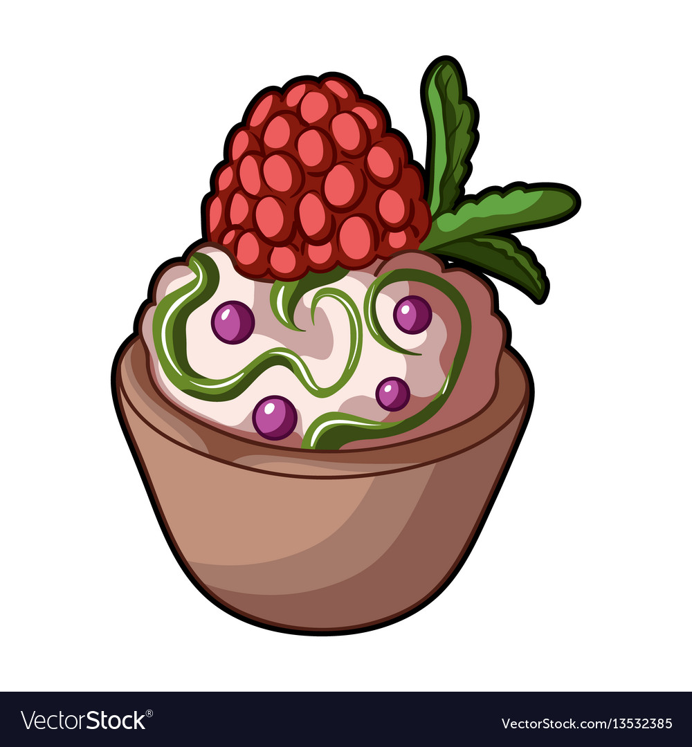 Vegetarian dessert for vegetarians ice cream in a