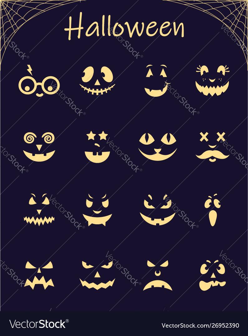 Halloween silhouette pumpkins