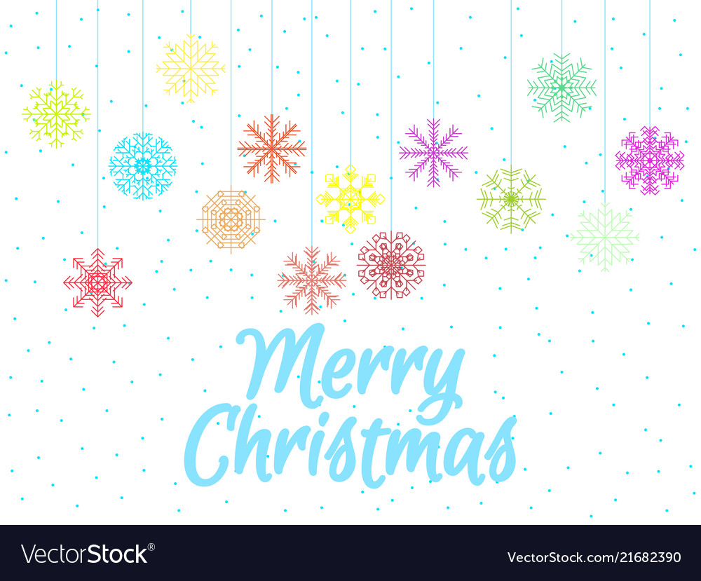 Merry christmas background with multi-colored