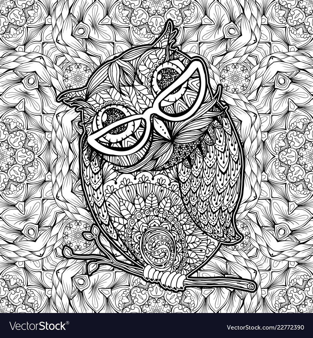 276 Best Owl Coloring Pages for Adults images | Owl coloring pages ... | 1080x1000