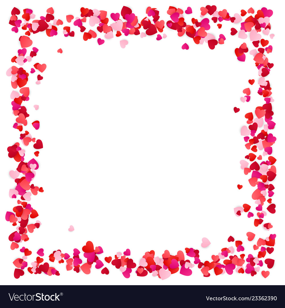 Red paper hearts frame background hearts frame