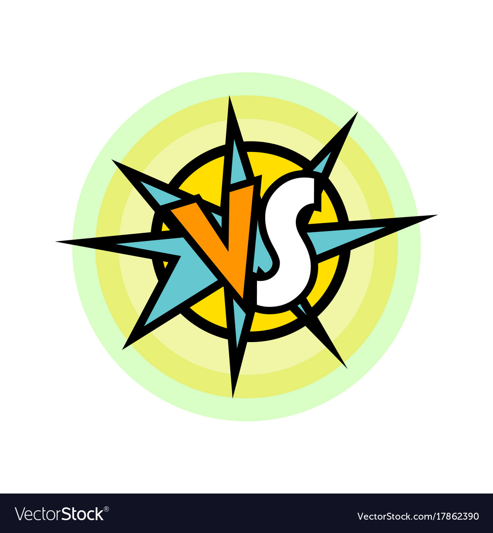 Versus battle intro in cartoon style vector image