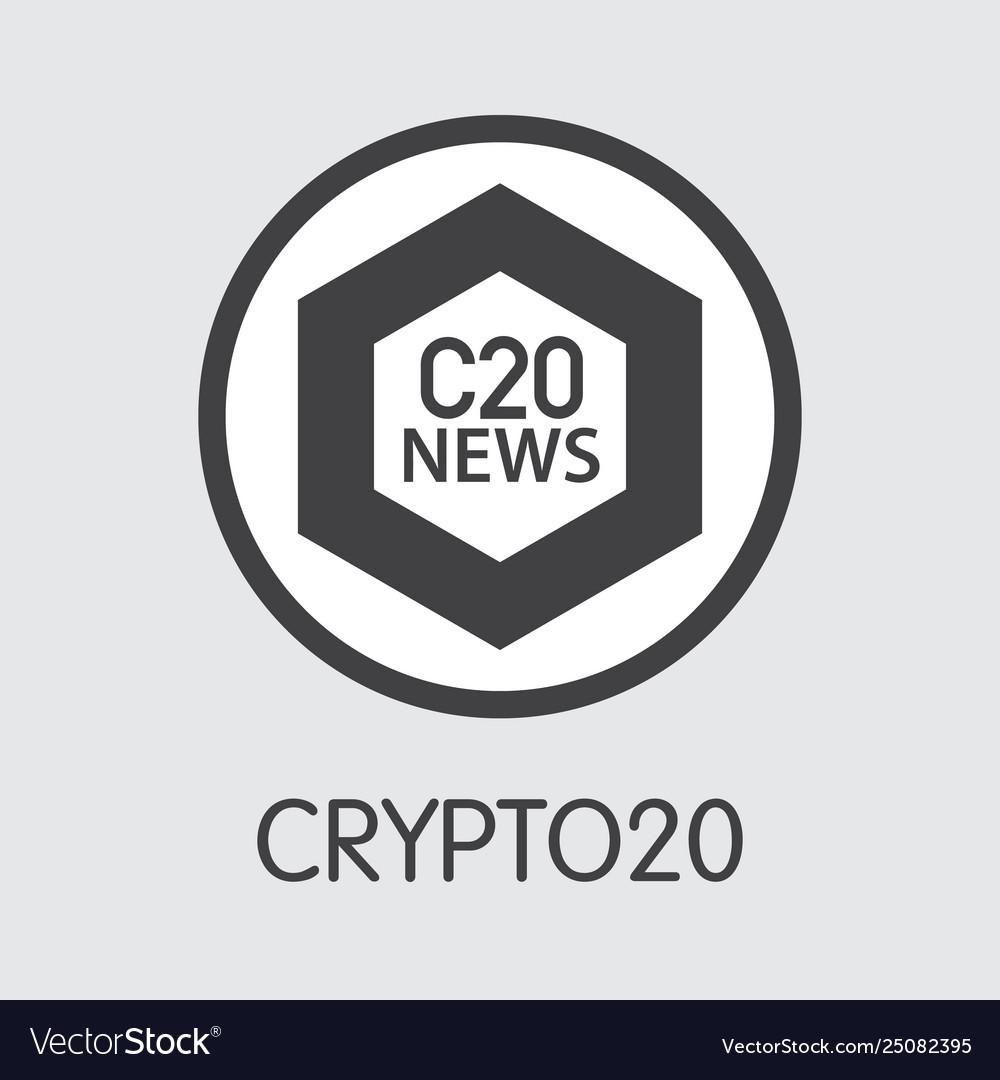 C20 - crypto20 the icon money or market emblem vector image