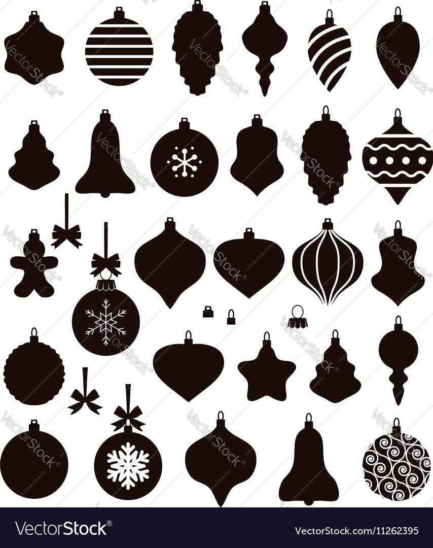 Christmas Shapes.Christmas Ball Shapes