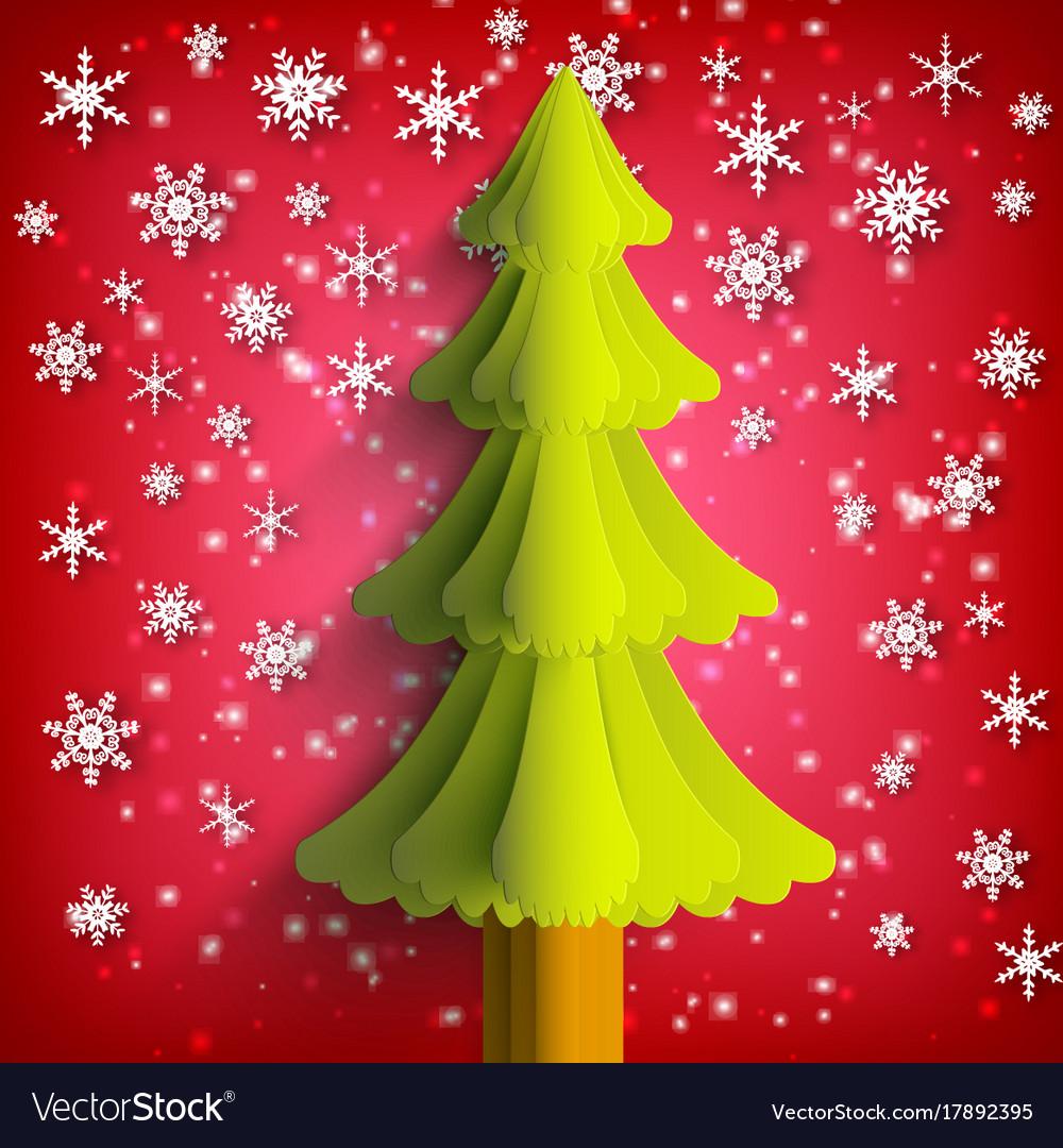 Christmas Greeting Template Royalty Free Vector Image