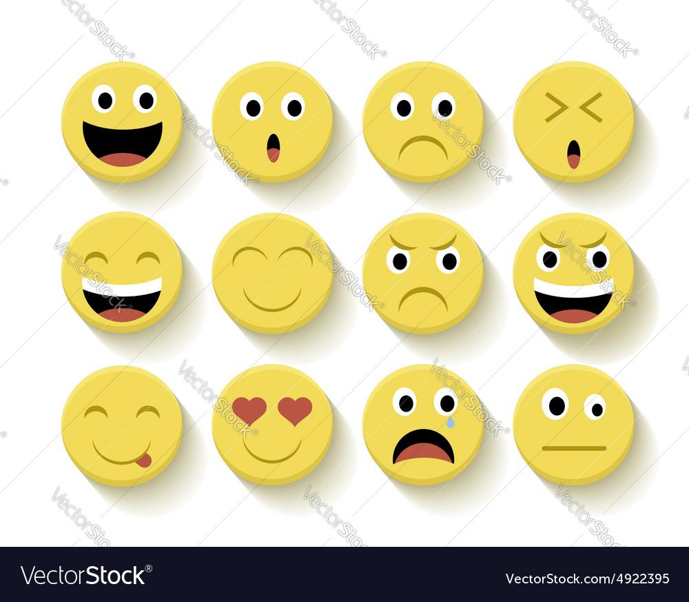 Cute emoticons set