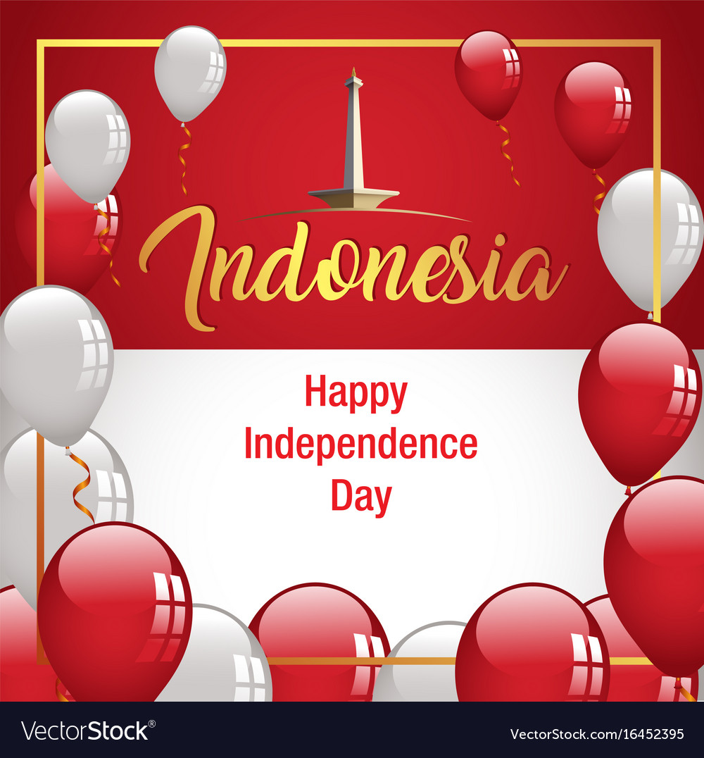 Happy independence day indonesia banner