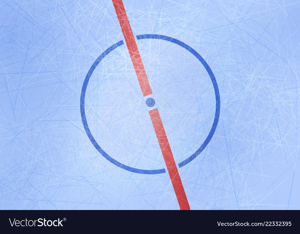 ice hockey rink background center of ice vector image vectorstock