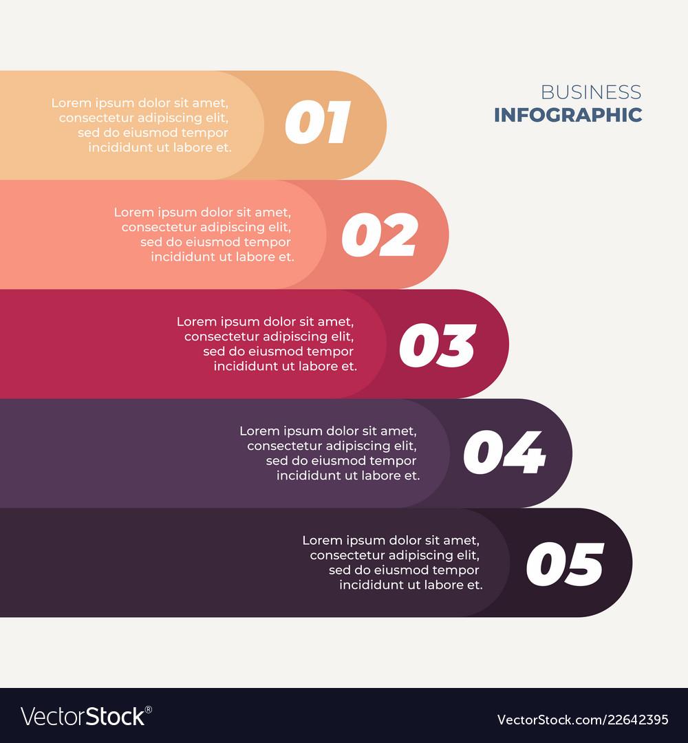 Infographics 5 step design