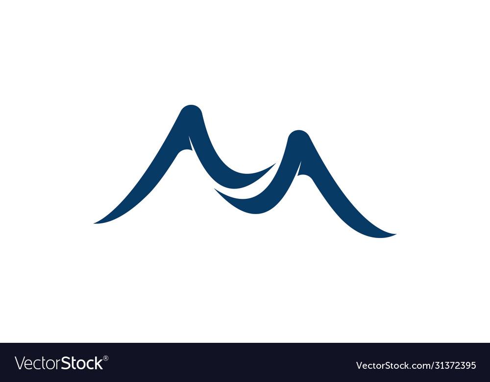 Mountain icon logo business template