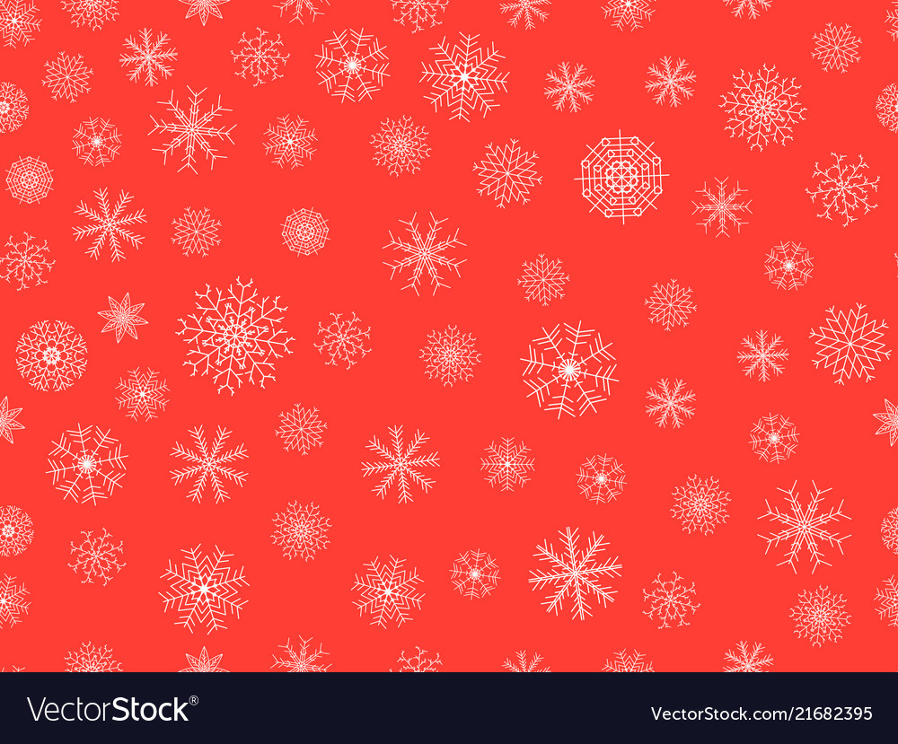 Seamless pattern with snowflakes christmas