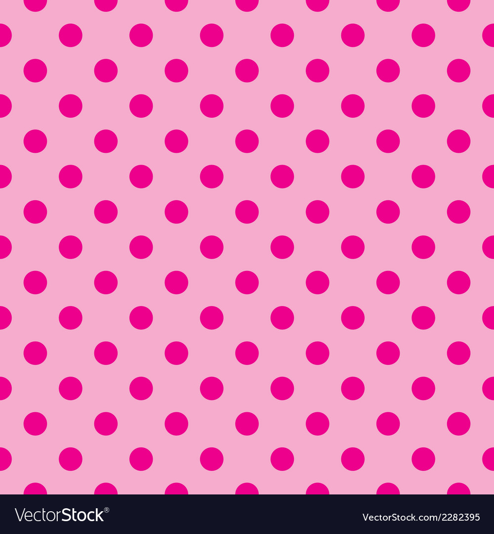 Tile pink background with polka dots vector image