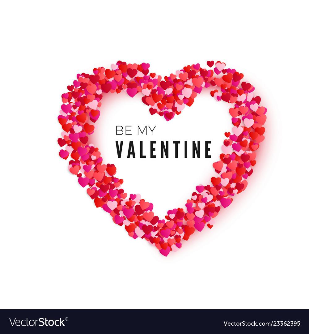 Valentine Card Heart Frame Romantic Decoration