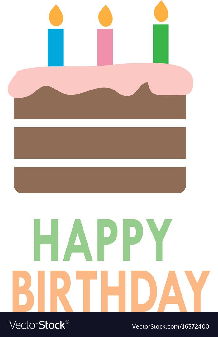 Birthday cake icon on white background flat style