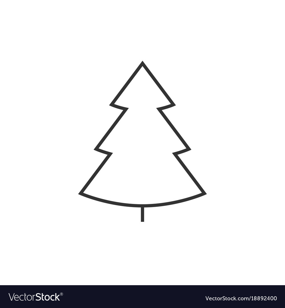 Christmass tree line icon