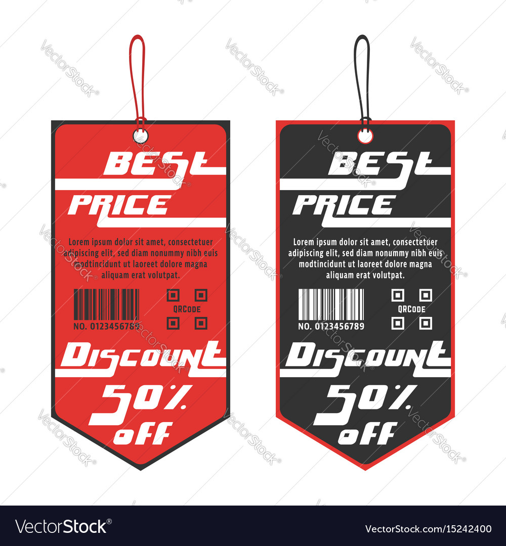 Discount sticker template Royalty Free Vector Image
