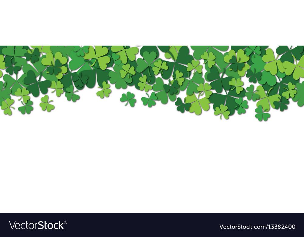 Happy saint patrick s day horizontal seamless