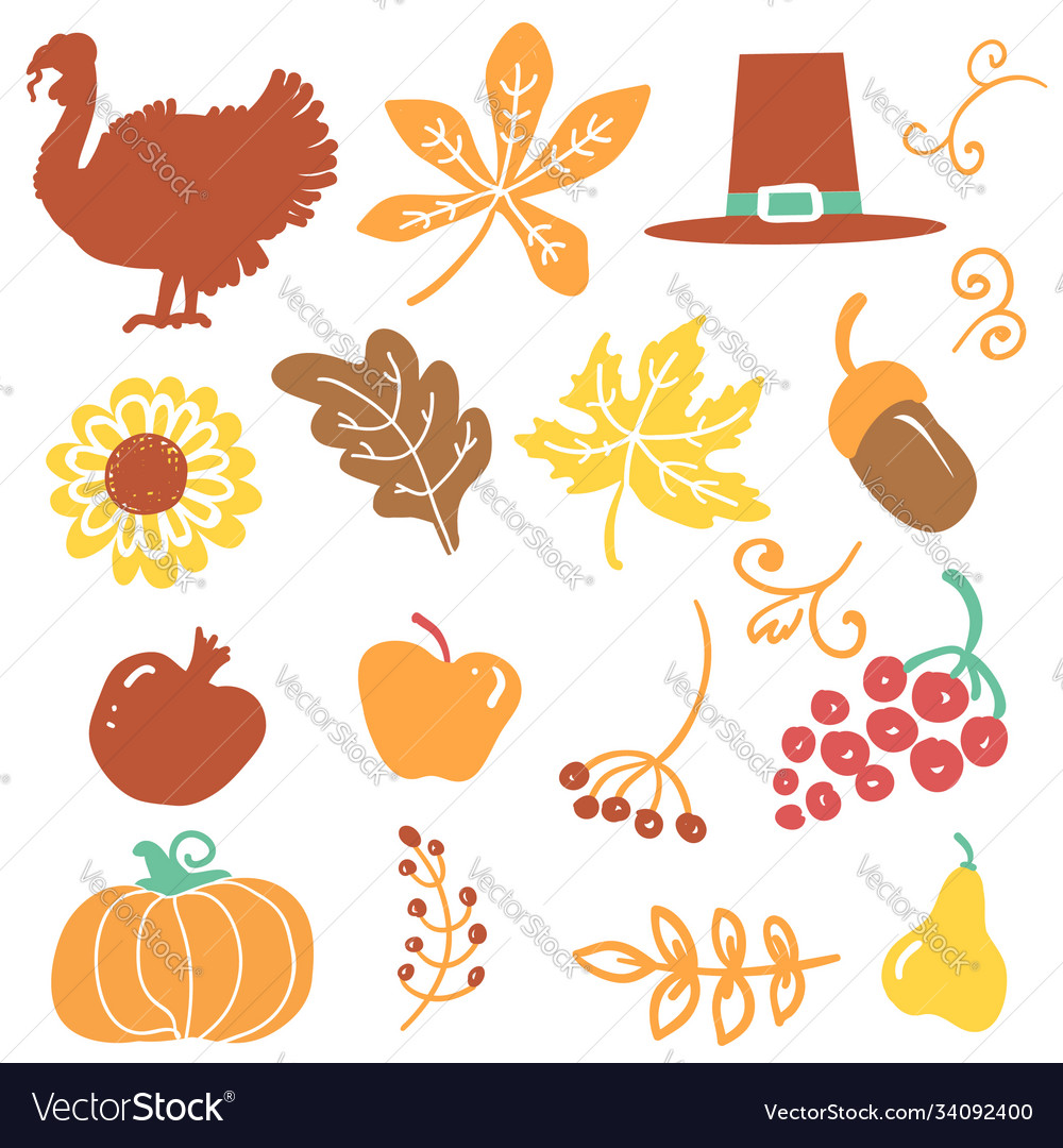 Happy thanksgiving day objects beautiful