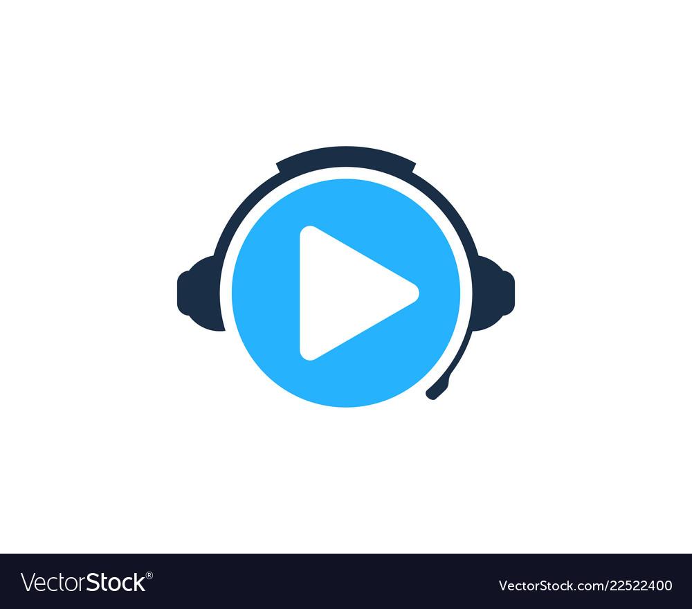Video podcast logo icon design