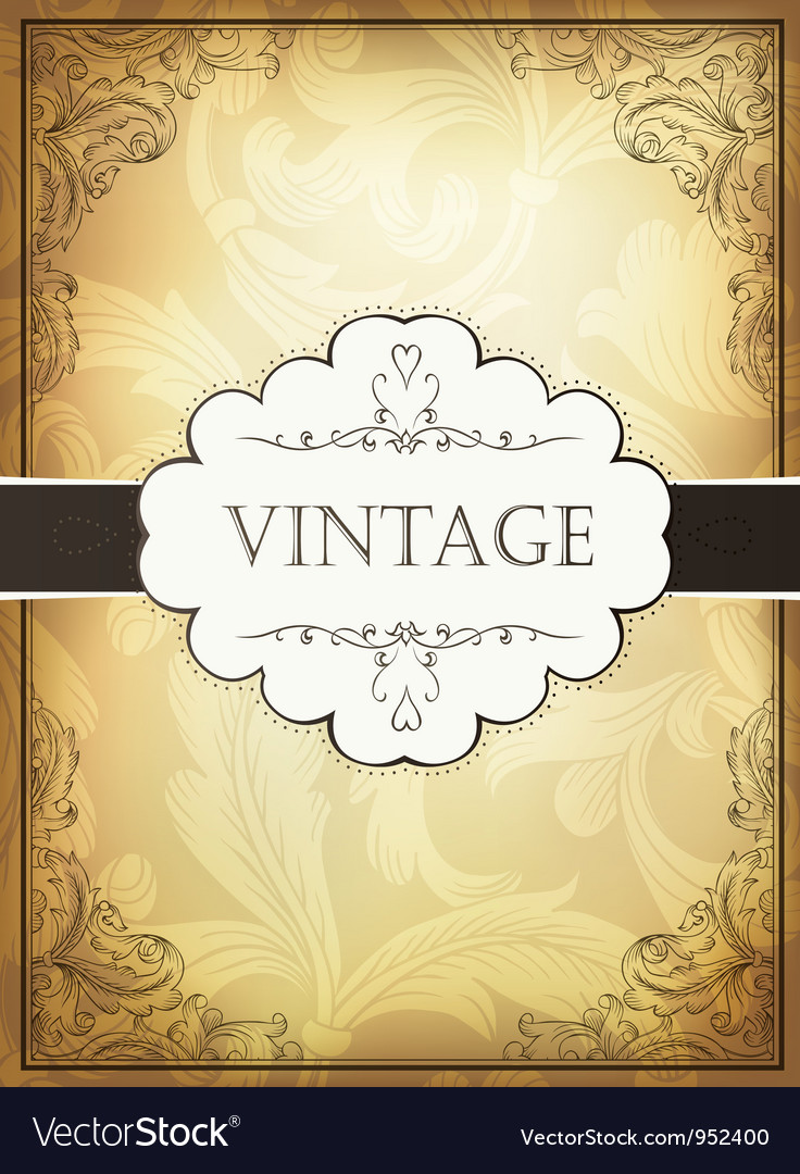 Vintage background with ornamental frame