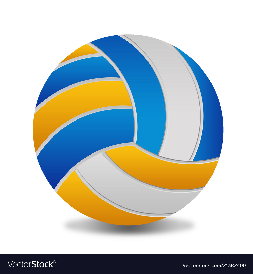 Volleyball ball on white background