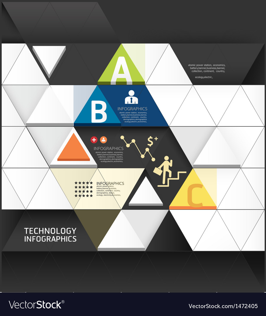 Abstract infographic Design Minimal Triangle shape