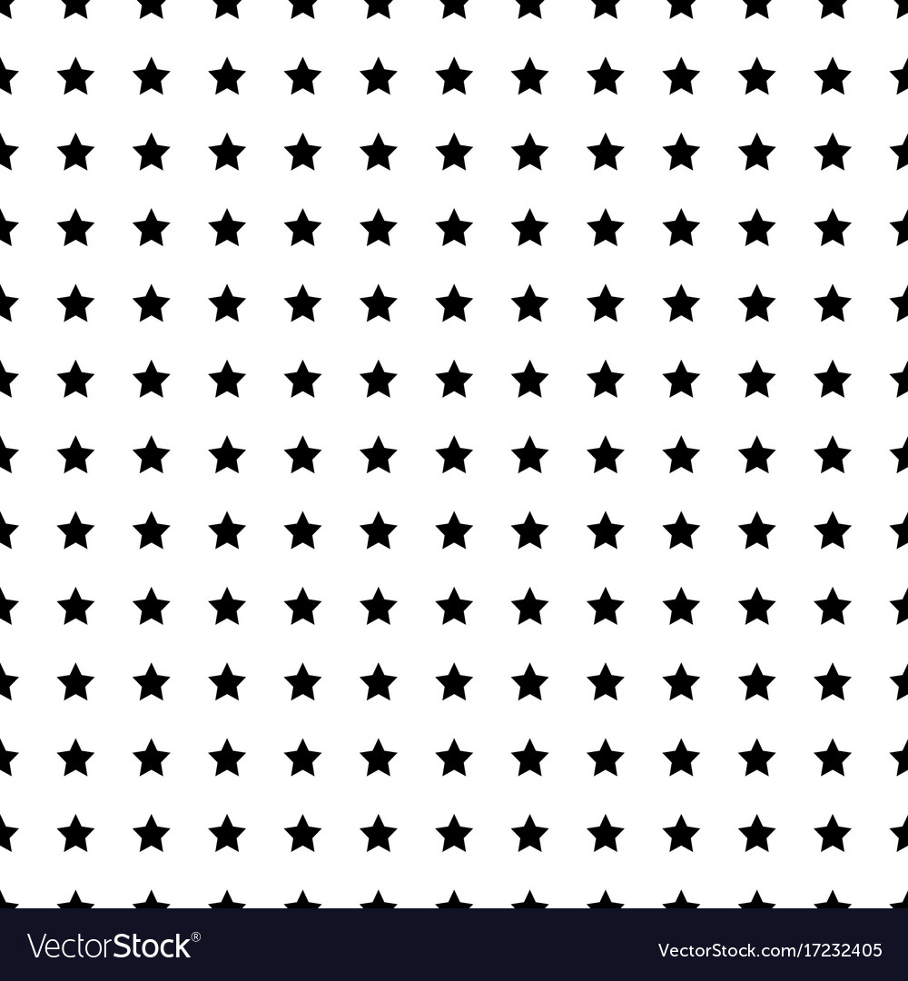 Black star seamless on white background vector image
