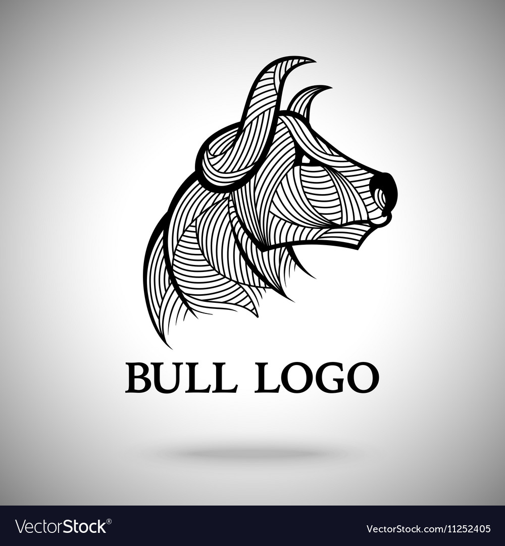 Bull logo template for sport teams