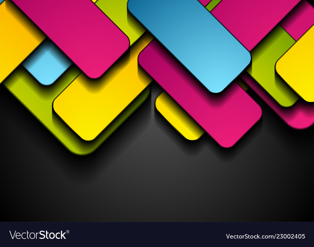 Colorful rectangles abstract tech geometric