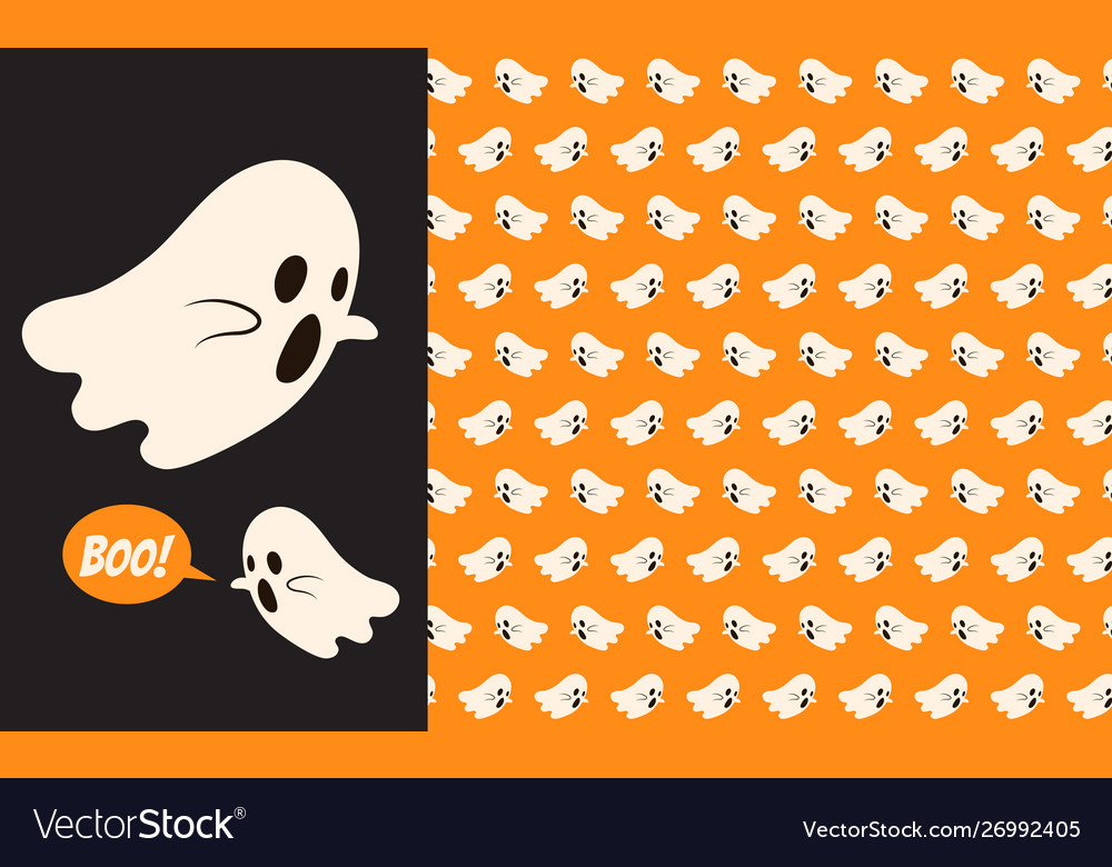 Halloween ghost seamless pattern background