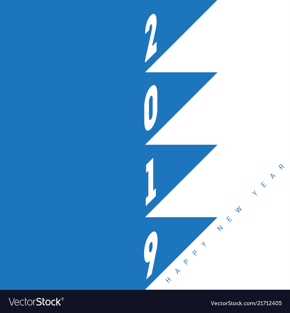 Happy new year 2019 minimal party poster greeting