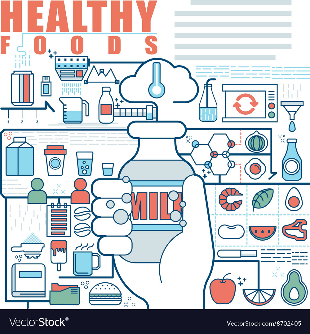 Infographics elements concept of Healthy Foods