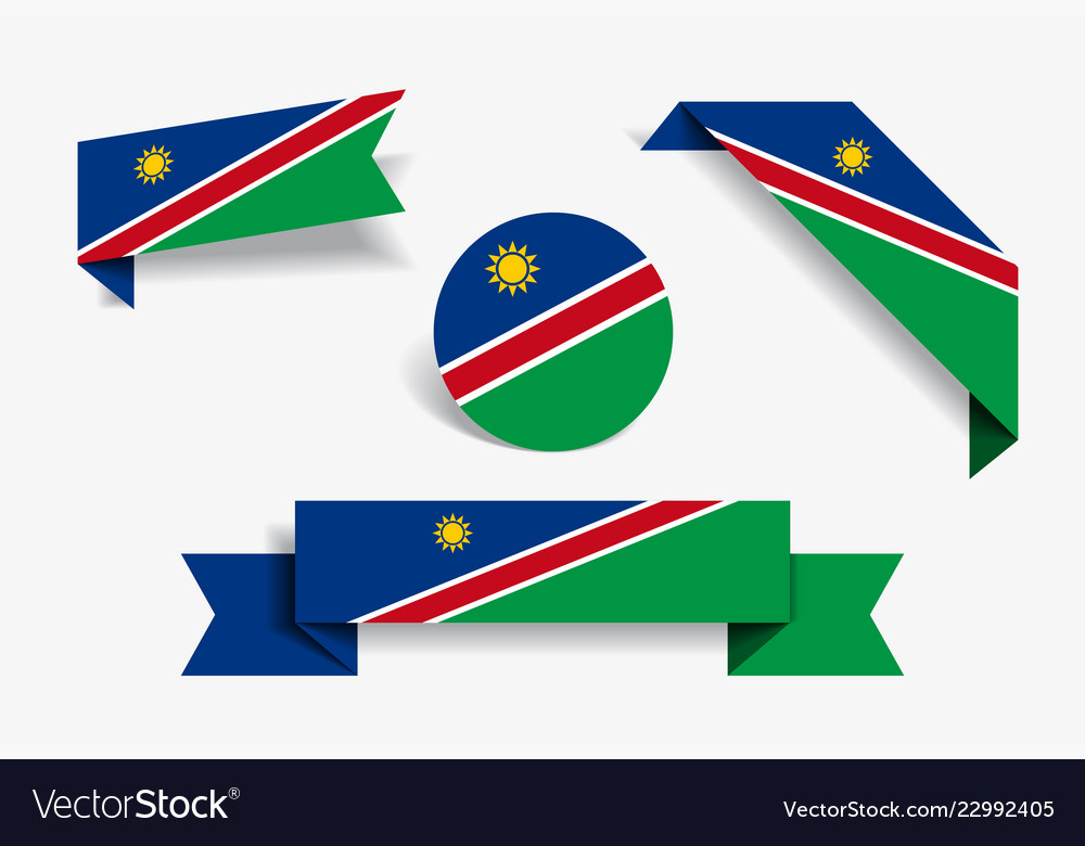 Namibian flag stickers and labels