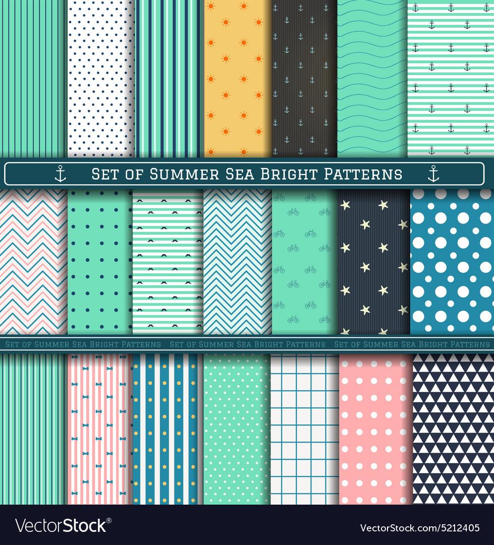 Set of Summer Pattern vector image