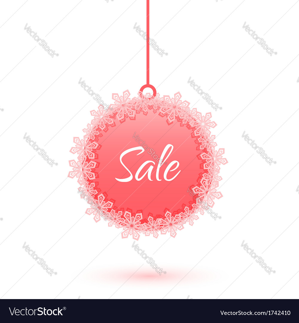 Christmas sale ball with snowflakes